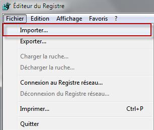 Comment sauvegarder son registre et le restaurer avec Windows 7 ? 01-03-15