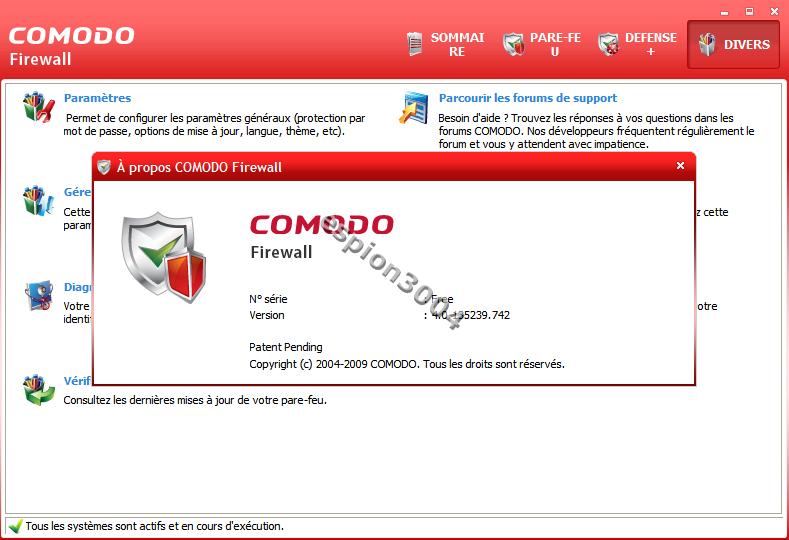 Téléchargez Comodo Internet Security V4 (Bêta et fonctionnel) à installer de suite et gratuitement 06-03-23