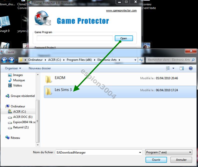 Game Protector : Protégez vos jeux et fichier .exe par un mot de passe ! 09-04-10
