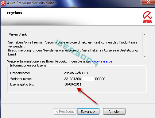 Avira Internet security  v10 gratuit 6 Mois sur le web3004 ! 10-03-13