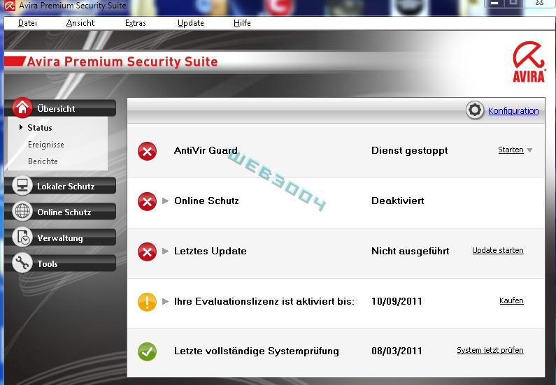 Avira Internet security  v10 gratuit 6 Mois sur le web3004 ! 10-03-17