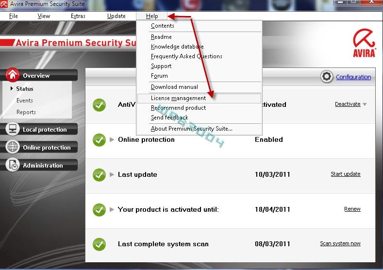 Avira Internet security  v10 gratuit 6 Mois sur le web3004 ! 10-03-19