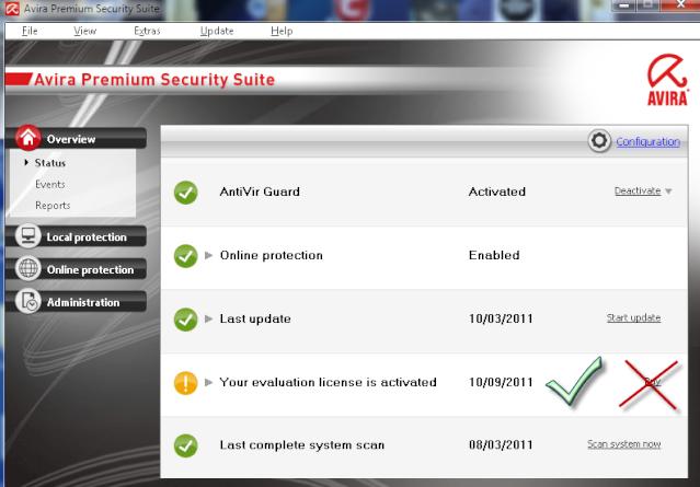 Avira Internet security  v10 gratuit 6 Mois sur le web3004 ! 10-03-26