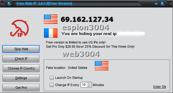 Free Hide IP : Surfer [anonymement] 13-05-13