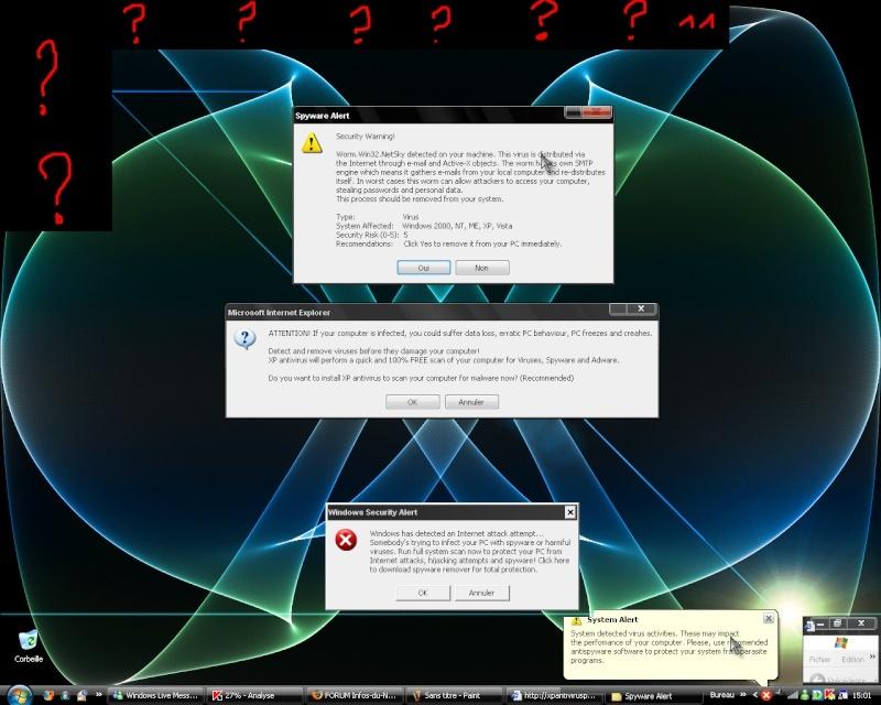 Les <> attaques informatiques ! Proble10
