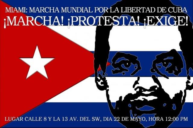 MARCHA MUNDIAL POR LA LIBERTAD DE CUBA Marcha55