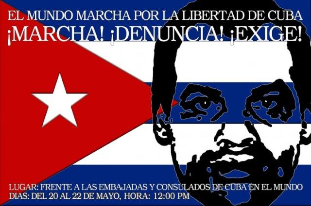 MARCHA MUNDIAL POR LA LIBERTAD DE CUBA Marcha56