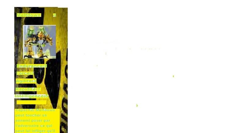 [Blog] Projet 2: BIONICLE Cards & HEROFACTORY Cards - Page 2 Meltdo10