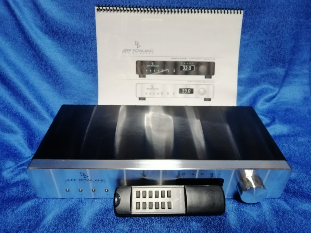 Jeff Rowland Capri S2 pre amp with Dac & PC 1 external power supply (used) Img_2023