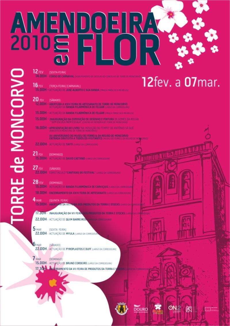 T. Moncorvo prepara-se para festividades: Amendoeira em Flor Progra10