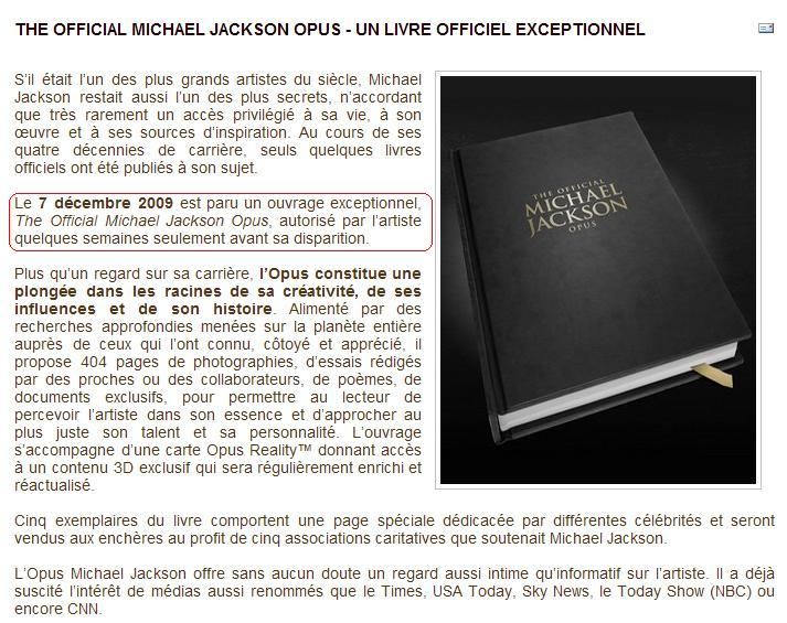 The official Michael Jackson Opus Opus10