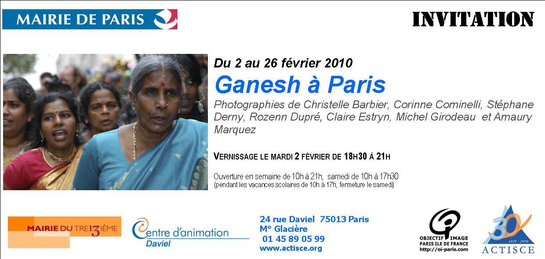 """Objectif Image Paris expose """"Ganesh à Paris"""" au centre d'activité de Daviel Invit_10"""