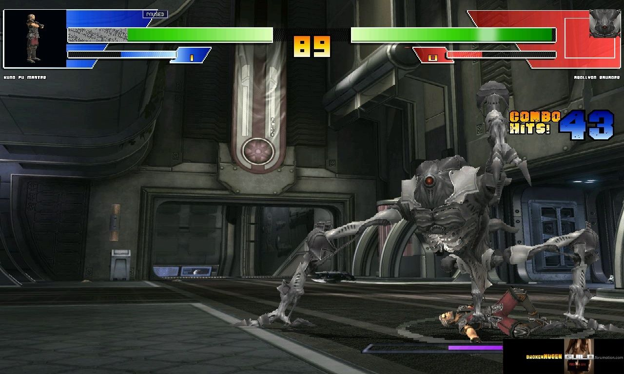 Preview of the new HD 960 Boss included in BrokenMUGEN HD beta 3.60 : Apollyon Ravager Bmhd3610