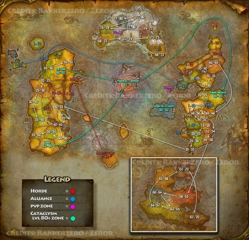 Carte des régions et des niveaux Carte_10