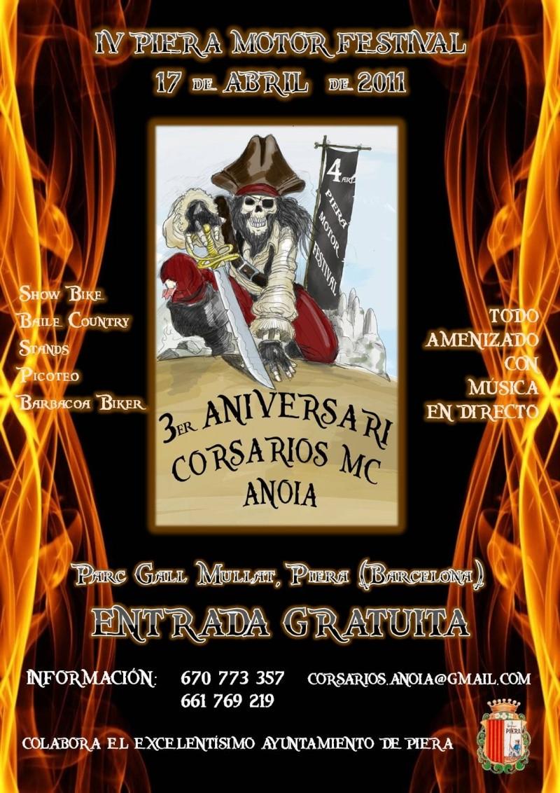 17 Abril 3er. ANIVERSARIOS CORSARIOS MC ANOIA Cartel13
