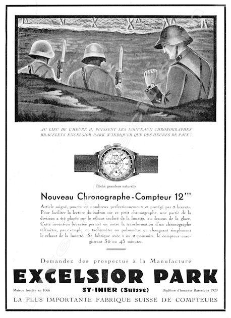 Passionné de publicités de montres Excels11