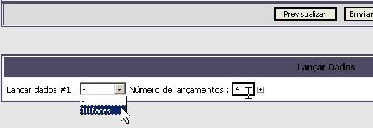 Como usar fórum e rolar dados (ilustrações) Dados210
