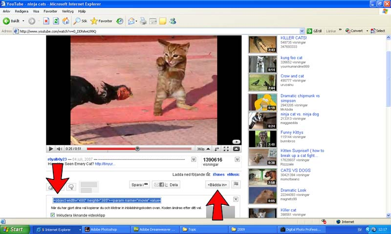 How to make to  post video from YOUTUBE วิธีลงวีดีโอจาก  YOUTUBE Untitl11