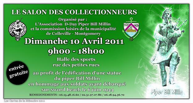 salon des collectionneurs à colleville montgomery 10 avril  1-affi10
