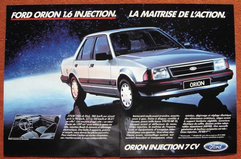 Ma nouvelle ford orion injection MK1 sortie de concession Ford-o10
