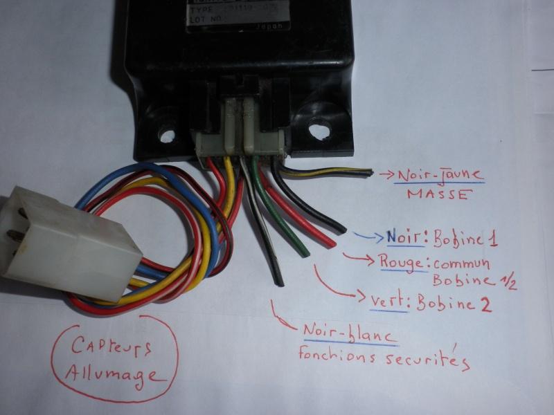 Raccordement boîtier d'allumage ZX 1100 P3190116