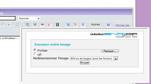 Insérer une image dans une réponse avec Servimg Image_11