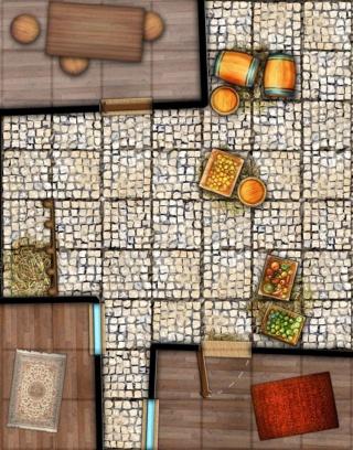 Battlemap - Essais et WIP Grille12