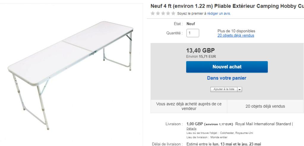 Table de camping   Table11