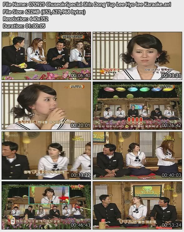 [070925] Hyori - Chuseok Special (with Shin Dong Yub) 07092510