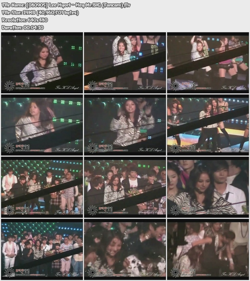 [080905] Hyori - Hey Mr.BiG (Fancam) 08090510