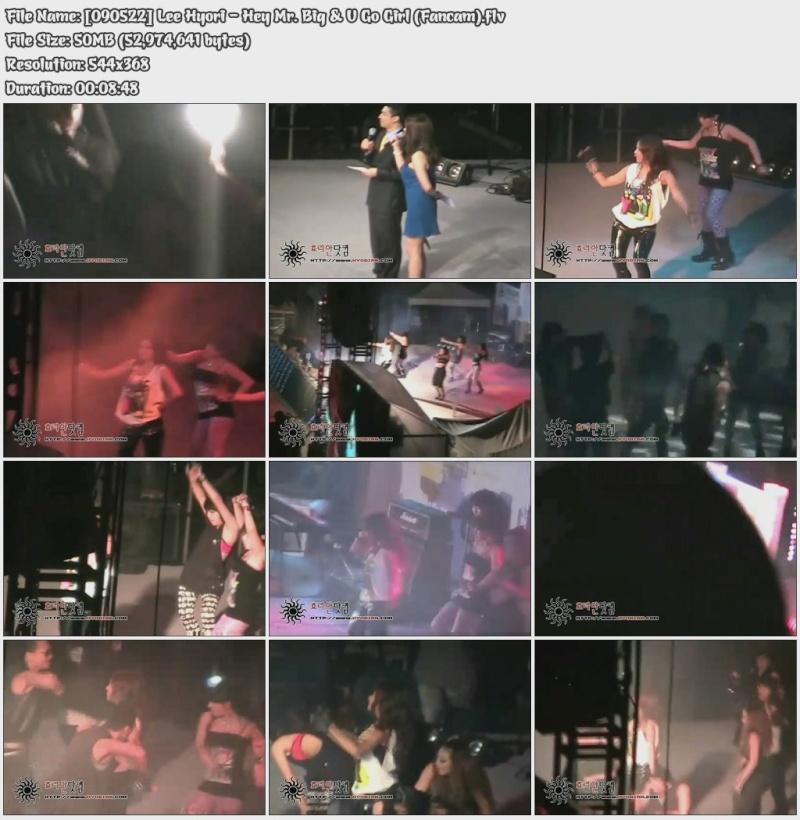 [090522] Hyori - Hey Mr. Big & U Go Girl (Fancam) 09052210