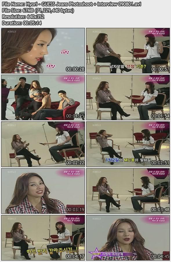 [090801] Hyori - GUESS Shooting & Interview Hyori-10