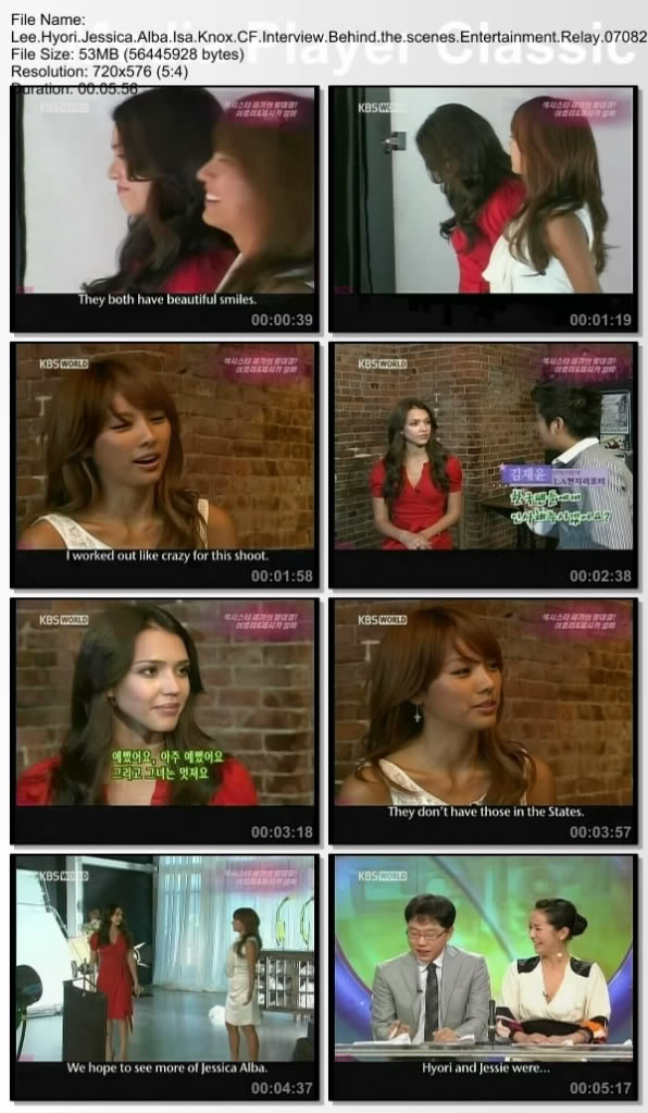 [070827] Hyori & Jessica Alba - Isa Knox CF Interview Behind the scenes Entertainment Relay (Engsub) Leehyo26
