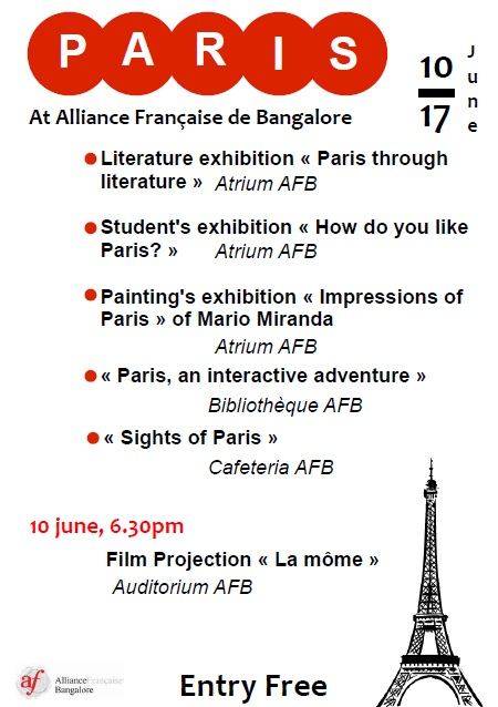 PARIS EXHIBITION, 10 TO 17 JUNE, ENTRY FREE Affich13