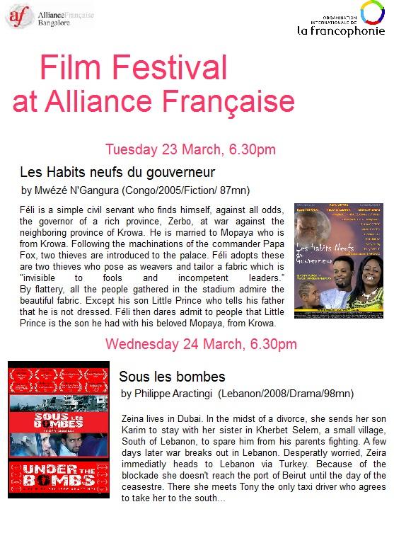 Festival du film pour le mois de la francophonie, 23 au 27 mars, Entry Free @ auditorium AFB Page_110