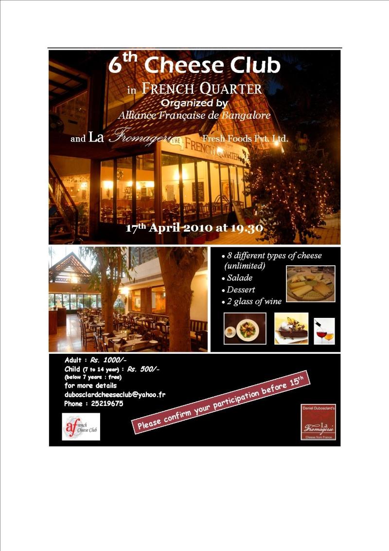 NEW CHEESE CLUB, 17 APRIL, FRENCH QUARTER BISTRO Pub_1710