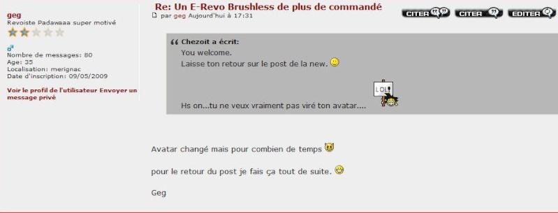 Un E-Revo Brushless de plus de commandé - Page 8 Avatar11