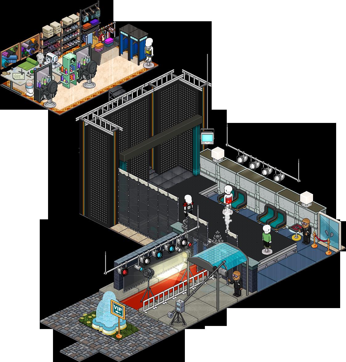 Reinseriti 4 affari stanza Passerella Fashion Week su Habbo 064mc210