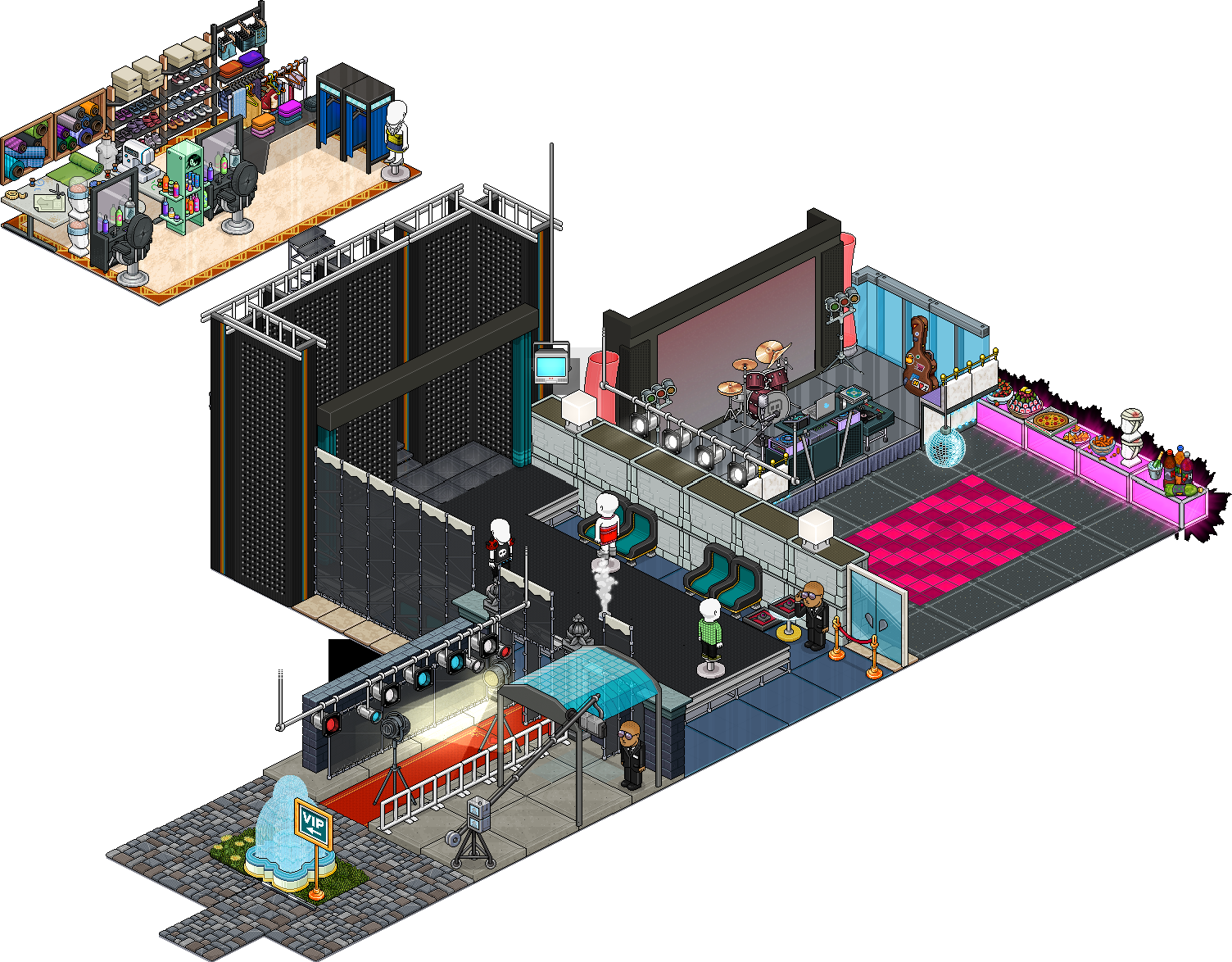 Reinseriti 4 affari stanza Passerella Fashion Week su Habbo Ktinm910