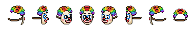 Caricata maschera da clown su Habbo Sche1112