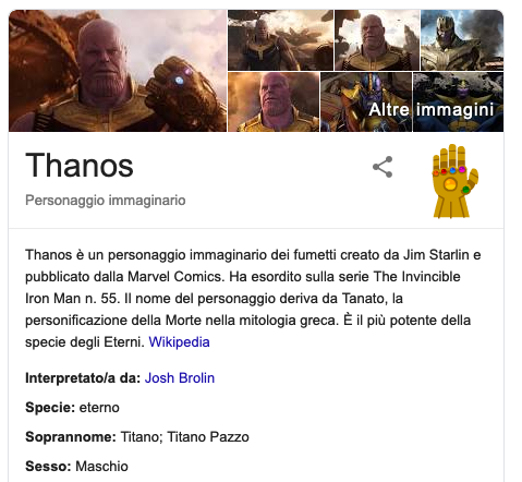 L'easter egg di Thanos su Google Scher597