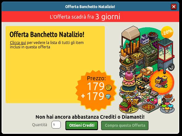 [ALL] Inserita Offerta Banchetto Natalizio su Habbo Scher796