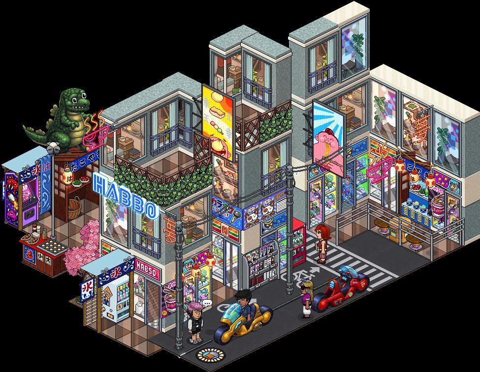 Reinserito affare stanza Mercato di Strada Tokyo in catalogo su Habbo Sl6vl210