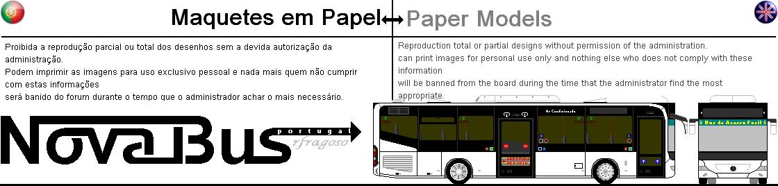 Maquetes de Autocarros em papel