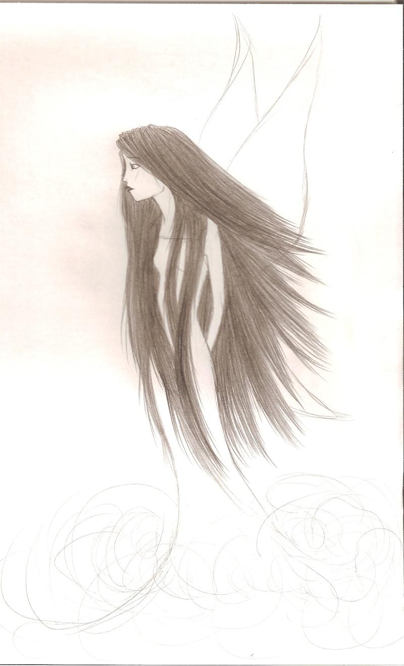 Une nana avec des ailes et puis des longs cheveux ^^ Numari32