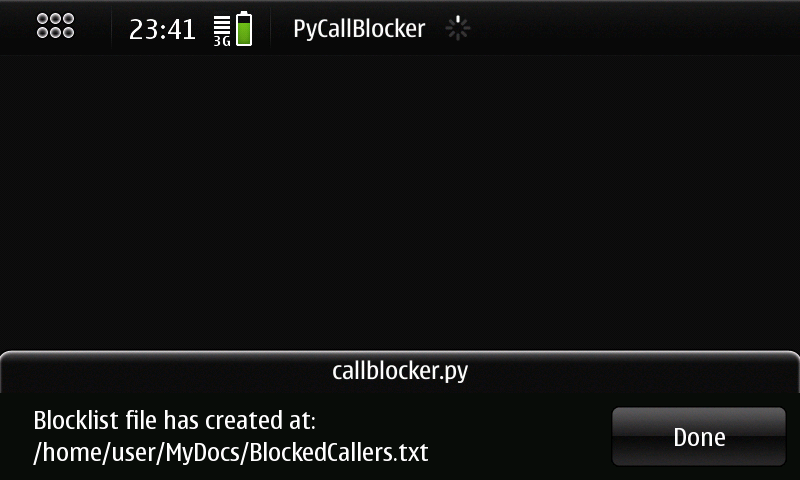 Pycallblocker Screen11