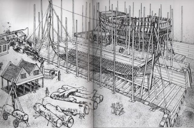 Installazioni di cantiere nell'epoca della marineria velica lignea. A_cant16