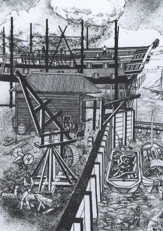 Installazioni di cantiere nell'epoca della marineria velica lignea. A_cant21