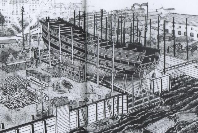 Installazioni di cantiere nell'epoca della marineria velica lignea. A_cant24