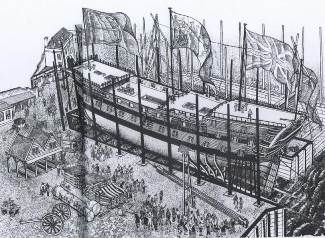 Installazioni di cantiere nell'epoca della marineria velica lignea. A_cant26